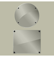 bolted glass plates vector image