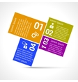 One two three four options infographic design vector image