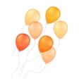 Orange Yellow Balloons Isolated Background vector image