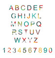 typography set with alphabet letters vector image