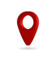 3d pin for map icon location point pointer vector image vector image