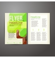 Abstract Brochure Flyer design with trees vector image vector image