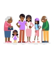 African Family Characters Child Teen Adult Old vector image vector image