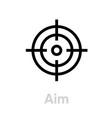 aim personal targeting icon editable line