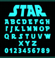 Alphabet font template set letters and numbers