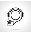 Audio courses simple line icon vector image vector image