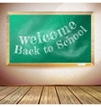 Back to school poster with chalkboard EPS10 vector image