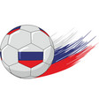 ball and russia flag colors vector image