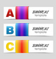 banners design template vector image