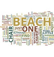 beach florida inclusive resort text background vector image vector image
