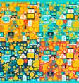 bitcoin seamless patterns vector image vector image