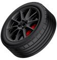 black alloy wheel vector image vector image