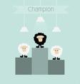 Black sheep is champion vector image vector image