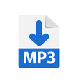 blue icon mp3 file format extensions icon vector image vector image