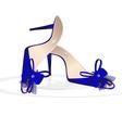 blue womans shoes vector image vector image