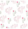 cactus print vector image vector image