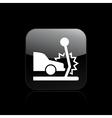 car crash single vector image vector image