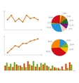 Charts Statistics and Pie Diagram vector image vector image