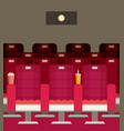 cinema chairs with popcorn soda vector image vector image