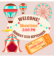 Circus welcome vector image