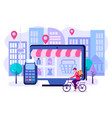 concept of convenience of shopping and vector image vector image