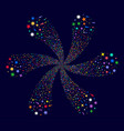 confetti stars centrifugal twist vector image vector image