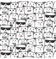 cute bears doodle art pattern background vector image