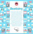 dentistry flat icons banner vector image vector image
