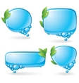 eco speech bubble set vector image vector image