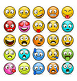 emoji and sad icon set vector image vector image