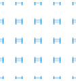 fence icon pattern seamless white background vector image vector image