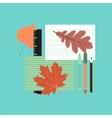 flat icon on stylish background notebook pen vector image