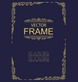 frame art deco style gold color vector image vector image