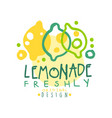 freshly lemonade original design logo natural vector image vector image