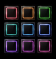 glossy plastic texture banners set square frames vector image