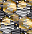gold and gray color creative repeatable motif vector image vector image