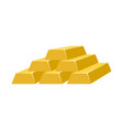 gold bars isolated on white background vector image vector image