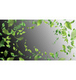 green flying leaves vector image vector image