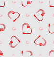 grunge heart shape frame with brush painting vector image vector image