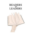 handing book readers are vector image