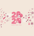 happy new year 2020 and lots love vector image vector image