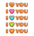 i love you sign wooden lettering vector image vector image