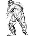 image sketch doodle human figure in motion vector image