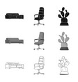 isolated object of furniture and work logo set of vector image vector image