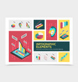 isometric abstract infographic concept vector image vector image