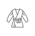 kimono line icon concept kimono linear vector image vector image