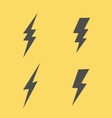 Lightning flat icons set