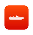little powerboat icon digital red vector image vector image