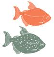 Metynnis maculatus Piranha vector image vector image