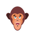 monkey happy emoji marmoset merry emotion vector image vector image